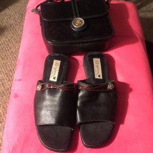 One World Brighton Crossbody Handbag and Sandals